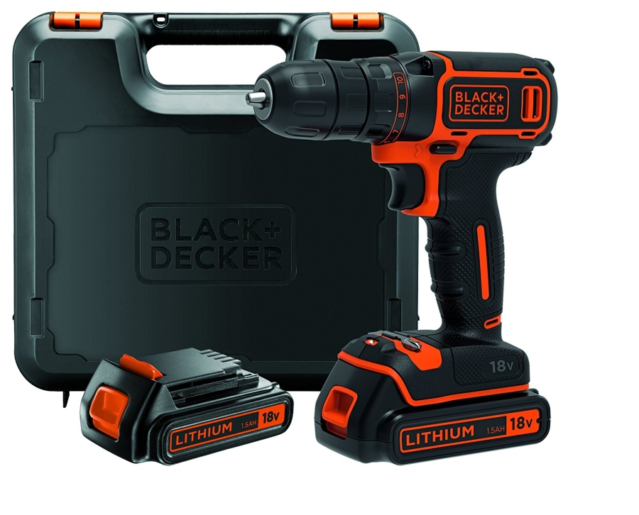 Perceuse black decker bdcdc18kb qw 18v 2 batterie 35 for Outil multifonction black et decker 300w